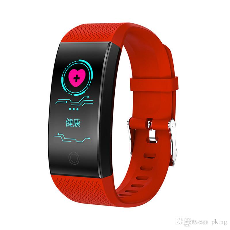 NEW Smart Bracelet Band QW18 Fitness Tracker Pedometer Bluetooth Heart Rate Blood Pressure Sensor Smartband Watch