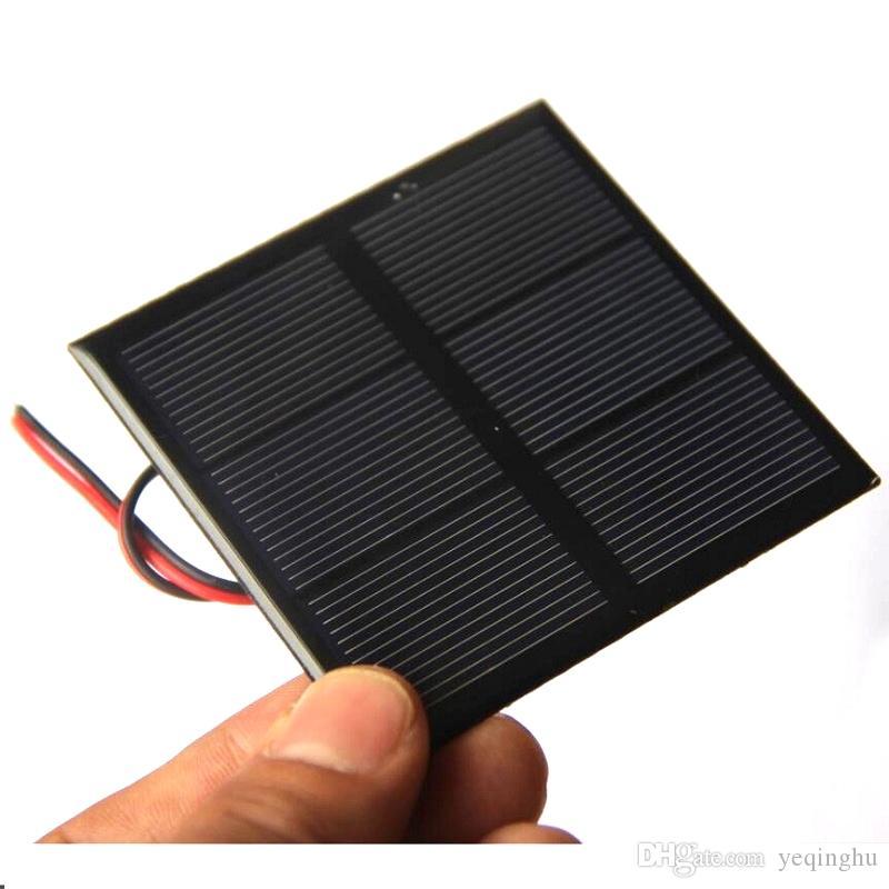 BUHESHUI 0.7W 1.5V 미니 태양 전지 패널 다결정 태양 전지 DIY 태양열 장난감 패널 70 * 70MM + 케이블 / 와이어 연구 10pcs 무료 배송