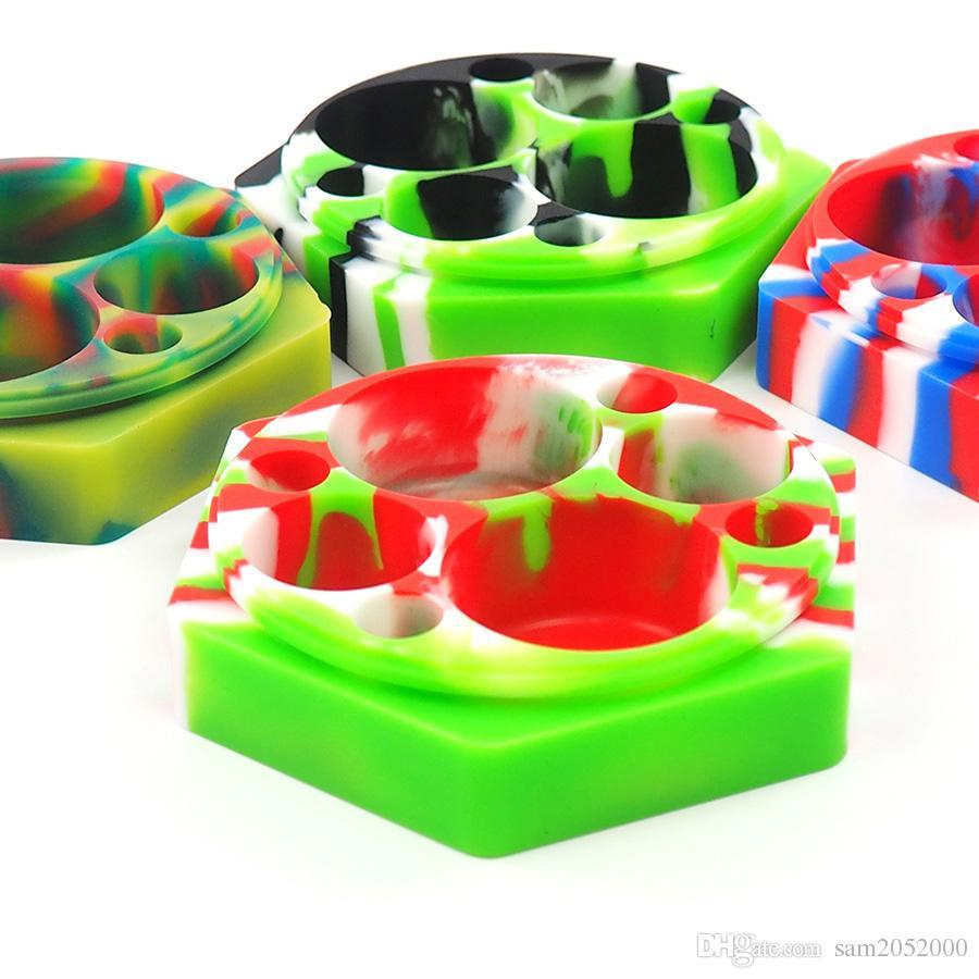 Duża kolorowa zatwierdzona żywność silikonowe słoiki z pojemnikami silikonowych DAB silikonowy pojemnik woskowy