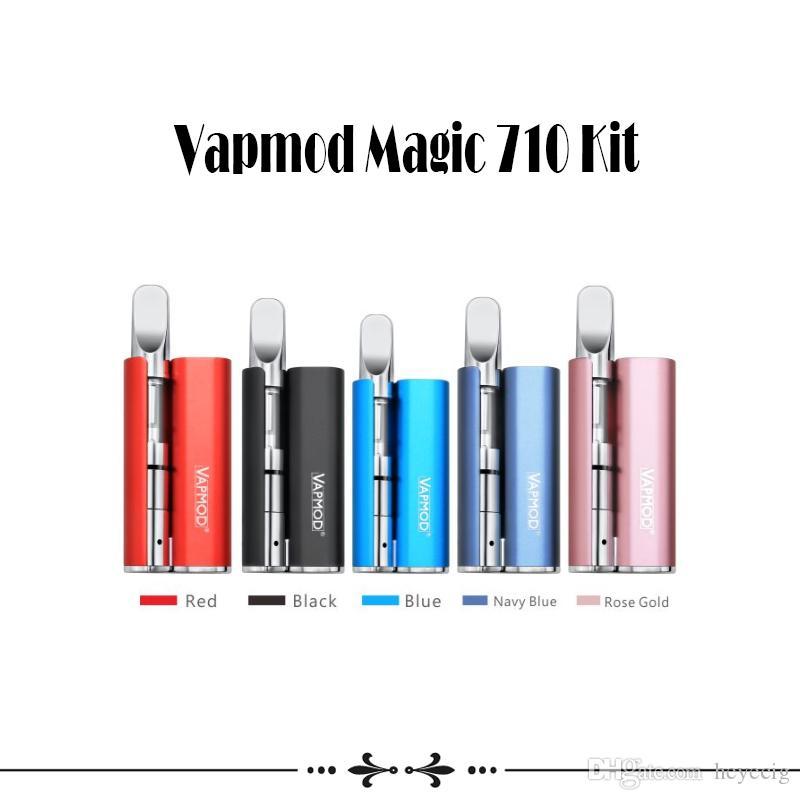 Authentic VapMod Magic 710 Mod Kit 380mAh Battery Vaporizer Vape Pen Mod For 510 Thread Thick Oil Cartridge Ceramic Coil XTank Pro Cartridge