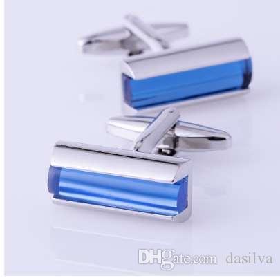 KFLK bijoux à la mode chemise pour hommes cufflink brassard bleu cristal mode lien Bouton mâle de haute qualité de mariage Livraison gratuite