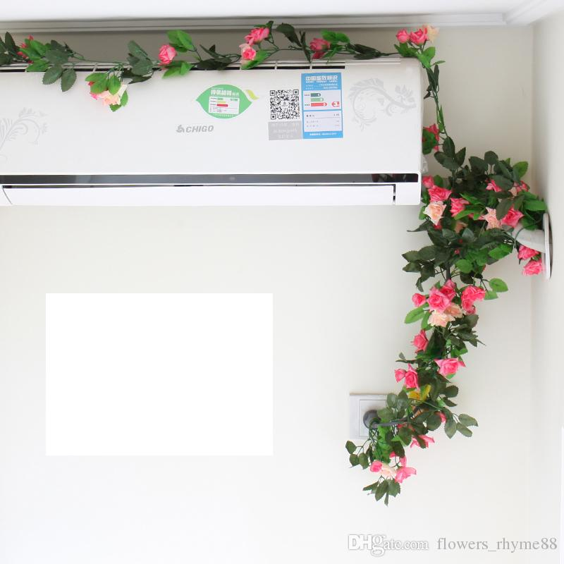 Decorações de casamento plantas de decoração de parede flores de Seda Artificial de Seda Falsa Subiu Vines de Flores Penduradas Guirlanda Decoração de Casa grinalda Ivy Vines
