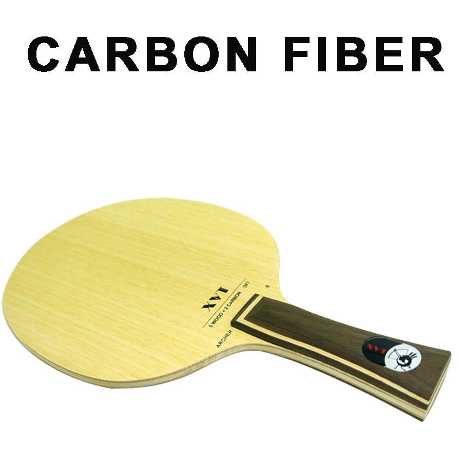 Venta XVT ARCHER-B Profesional de Fibra de Carbono de Mesa de Pádel paleta / Tenis de Mesa Blade / bat enviar cinta de borde