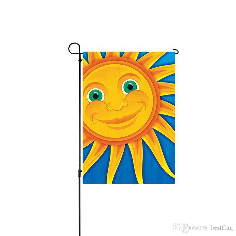 الجملة ذات نوعية جيدة عالية الدقة مخصص مطبوعة 12x18 بوصة شخصية البوليستر التريكو من ضعف الجانب العلم حديقة الموسمية