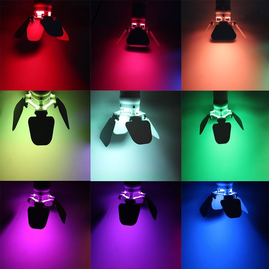 LED Yumuşak Yıldız Işık RGB 3 1 Yüksek Parlaklık Lambası Boncuk 9 W Parça Aydınlatma Yıldız Işık Boyama Etkisi Lambası