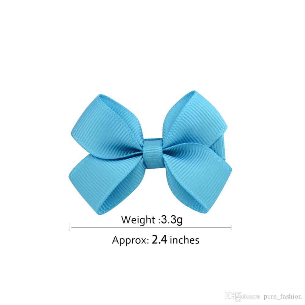 3 Colours NEW Cute Set of 6 Ribbon Bow Mini Hair Clips UK Seller