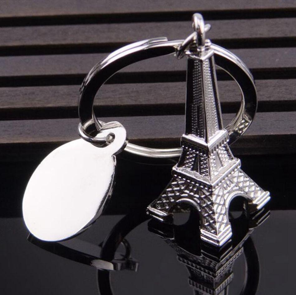 الفضة برج ايفل سلسلة المفاتيح باريس برج إيفل حلقة مفاتيح الفرنسية تذكارية نموذج قلادة مفتاح سلسلة 50PCS OOA4607