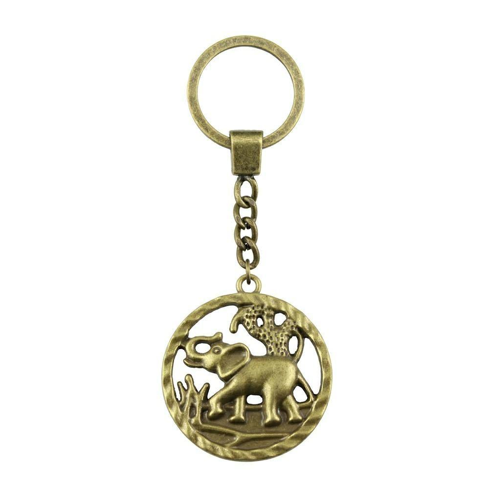 6 Pieces Key Chain Женщина Кольцо для ключей пара брелока для ключей Слон 44x39mm