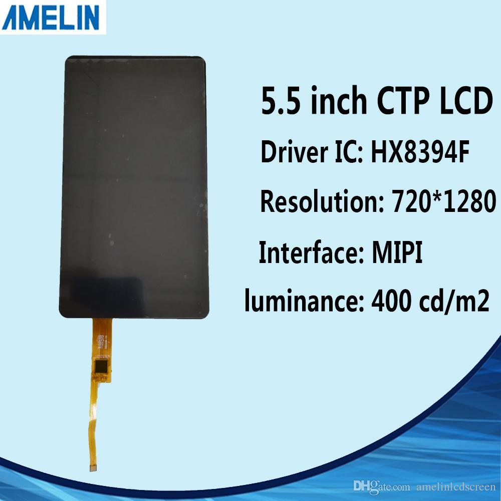 5.5 inch 720*1280 IPS TFT LCD module display with MIPI interface screen and CTP touch panel for 3d printing
