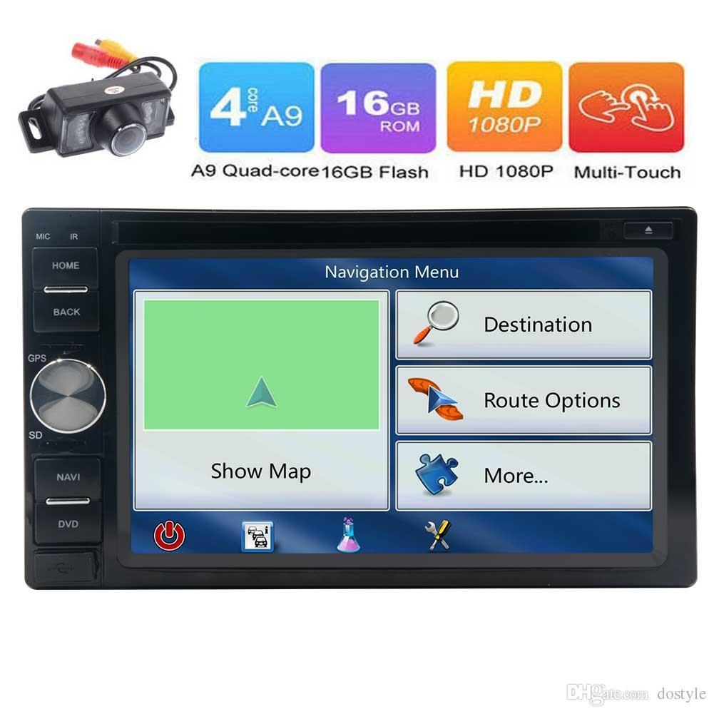 안 드 로이드 6.0 쿼드 코어 6.2 '터치 스크린 자동차 DVD 플레이어 GPS 네비게이션 더블 Din 자동차 스테레오 라디오 수신기 블루투스 / WiFi / OBD2 / Mirrorlink