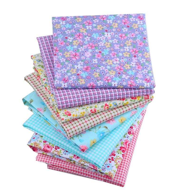 40X50CM Floral Cotton Quilting Fabric Fat Quater Bundles Patchwork Fabrics Sewing Cloth For Doll Dress Bedding J2-8-6