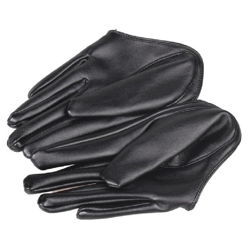 Les Femmes en Cuir Véritable Gants Court Fashion Half Palm Gants Gants en cuir NEUF