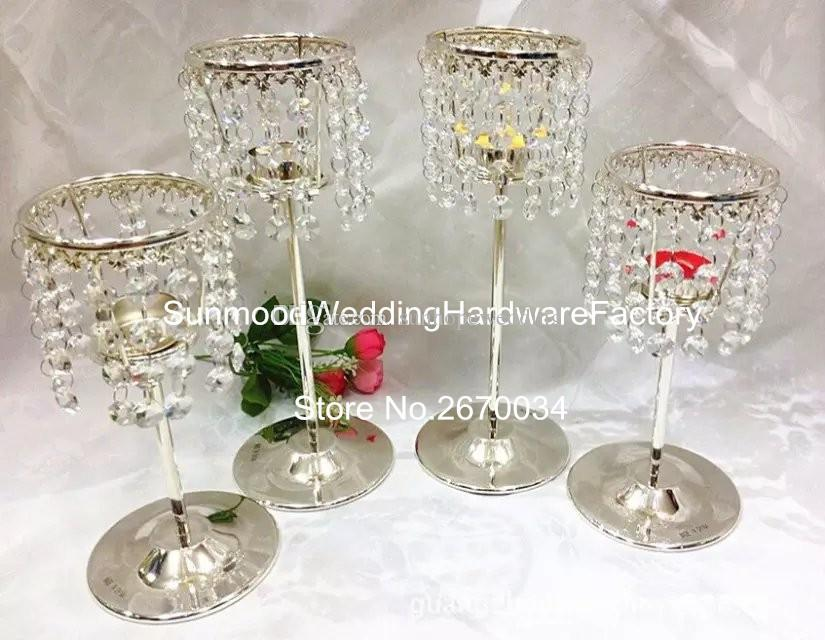 Cheap crystal candle holder tea light cups for wedding centerpieces