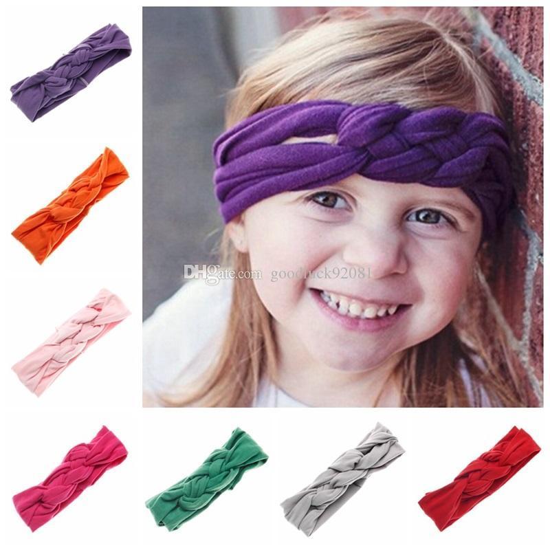Neugeborenes Baby Elastische Stirnbänder Mädchen Baumwolle Infant Kinder Knoten Stirnbänder Haarbänder Kinder Headwear Haarschmuck Mode