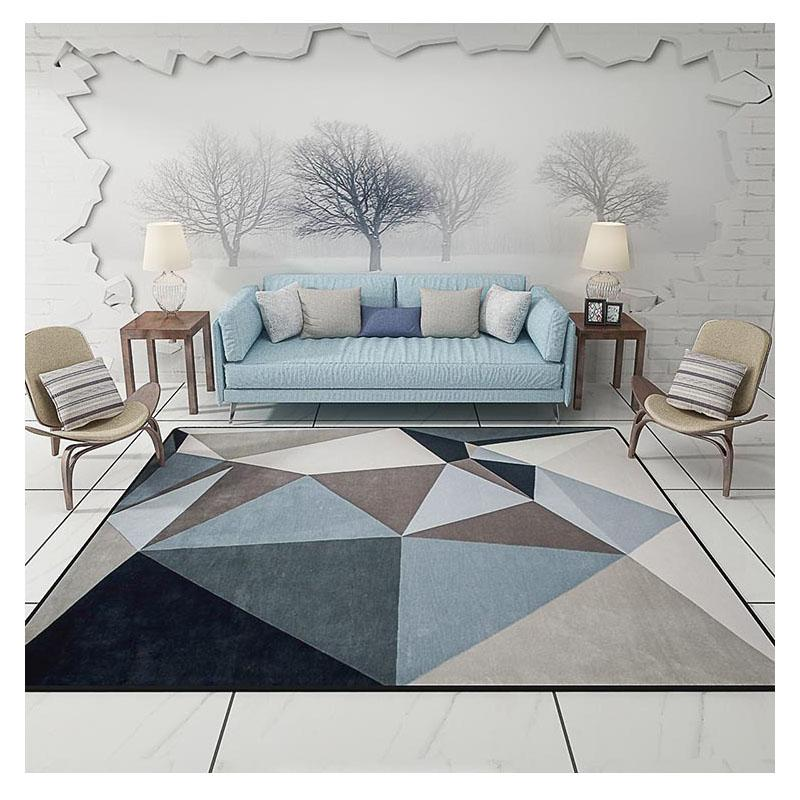 Modern Carpets For Living Room Rectangle Geometric Area Rugs Large Anti  Slip Safety Carpet Kids Room Home Decorative Bedroom Rug Bigelow Commercial  ...