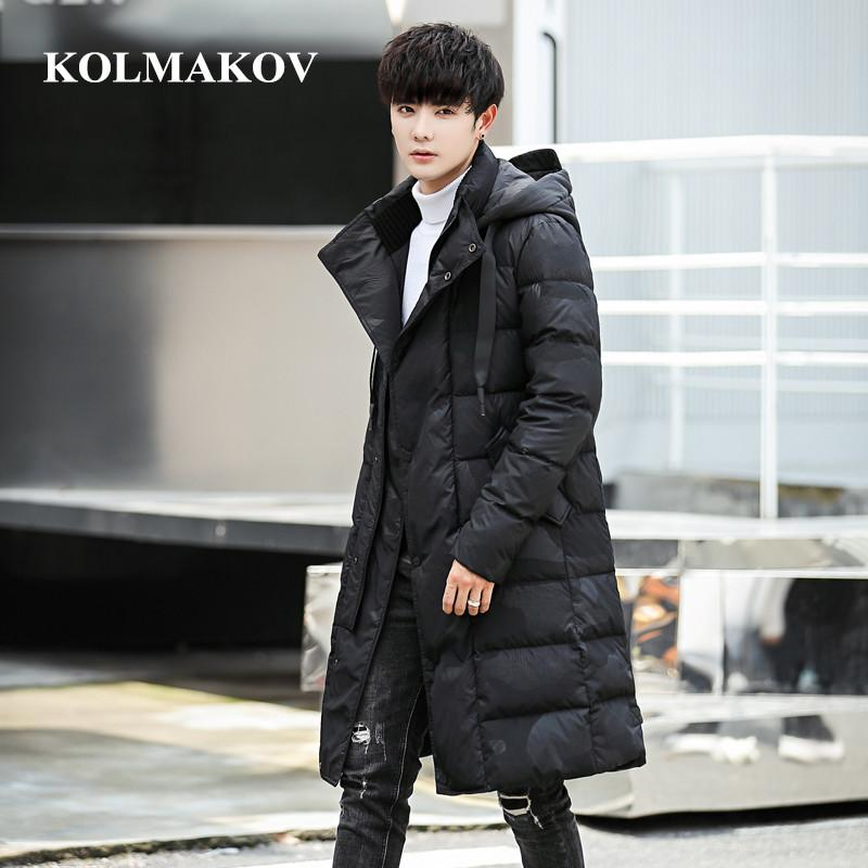 moownuc 2018 New Men's Casual Down Jackets Mens 85% White Duck Down Coats Men Jackets Good Quality Thicken Dresses Male Outwear