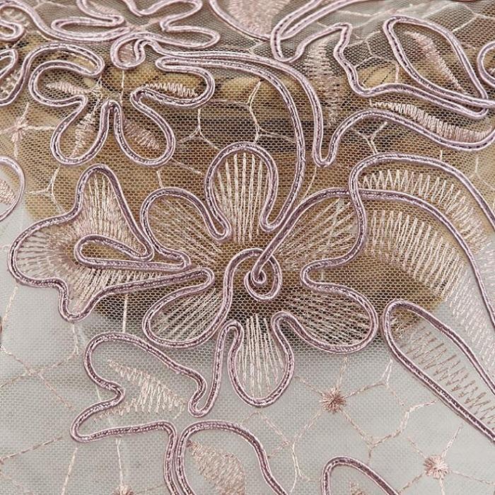 Kumaş işlemeli tül El Yapımı Dikiş Malzemesi için terylen çiçek DIY zanaat etek elbise parti düğün doğum günü decroation