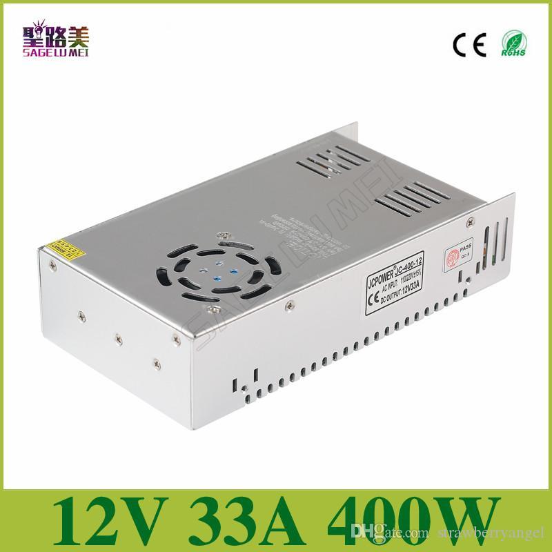 Frete grátis DC12V 33A 400 W Transformadores Transformadores Transformadores para CCTV câmera de Comutação de Alimentação Regulada LED Módulo de Fita de Luzes de Tira