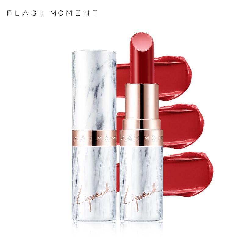 2018 nuovo rossetto flashmoment, opaco, opaco, idratante, non macchia, non macchiato con rossetto di pasta di fagioli.