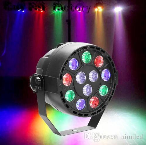 12W RGBW ضوء المرحلة مع dmx نموذج 12 led أضواء الاسمية الصوت تنشيط التحكم عن بعد ديسكو dj المرحلة حزب خلفية مصباح LLFA