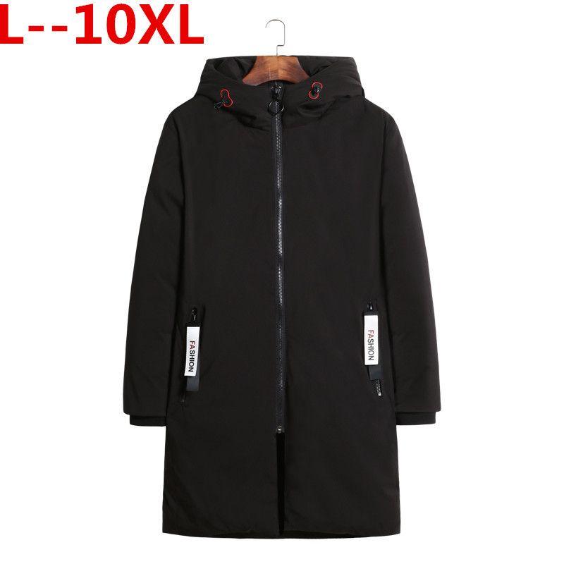 Plus 10XL 8XL 9XL 6XL Nuovo Mens Warm X-Long Cappotti Cotton Warm Jacket Padded Coat con cappuccio Parka Coat Winter Top Quality Overcoat