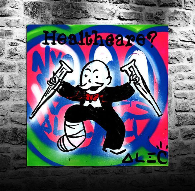 "Alec Monopoly, Home Decor HD Print Lienzo de arte moderno (Sin enmarcar / Enmarcado) 12x12 ""# 05"