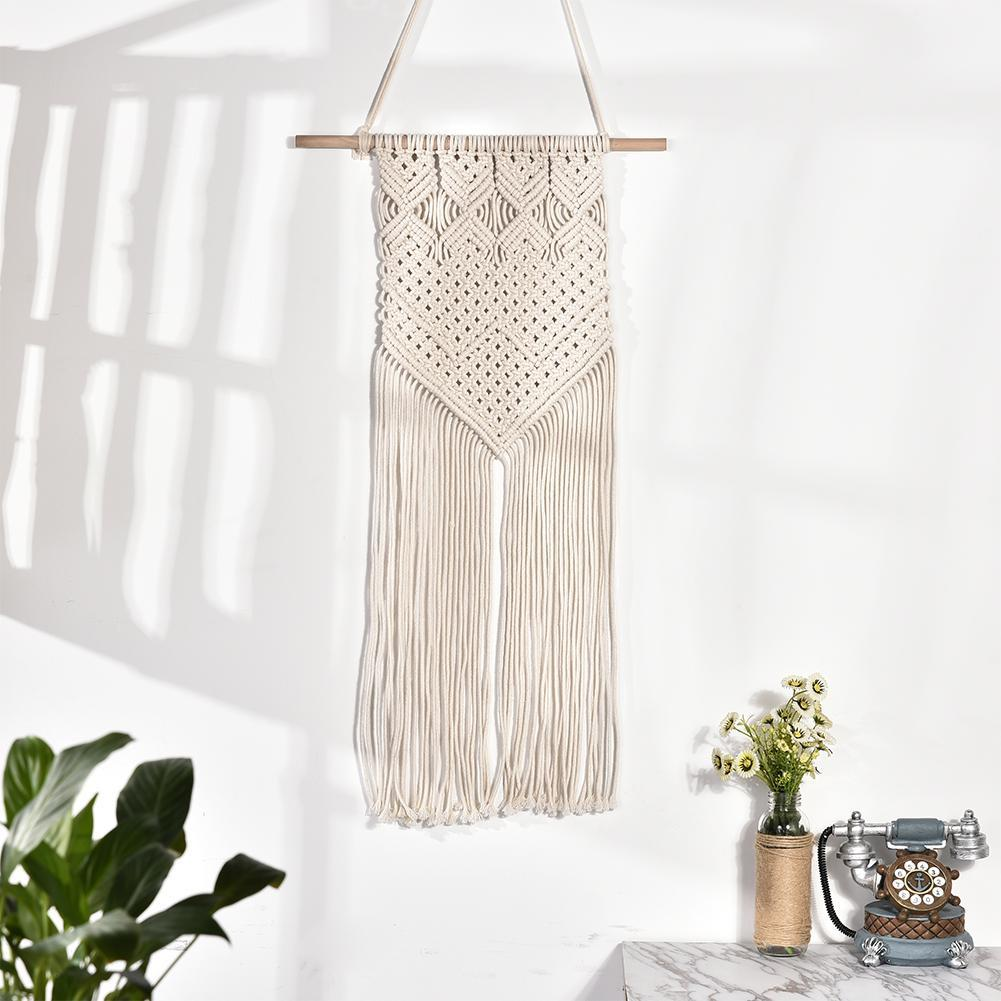 Bohemian Macrame Wall Hanging Cotton Rope Handmade Banner Tapestry Home Decor