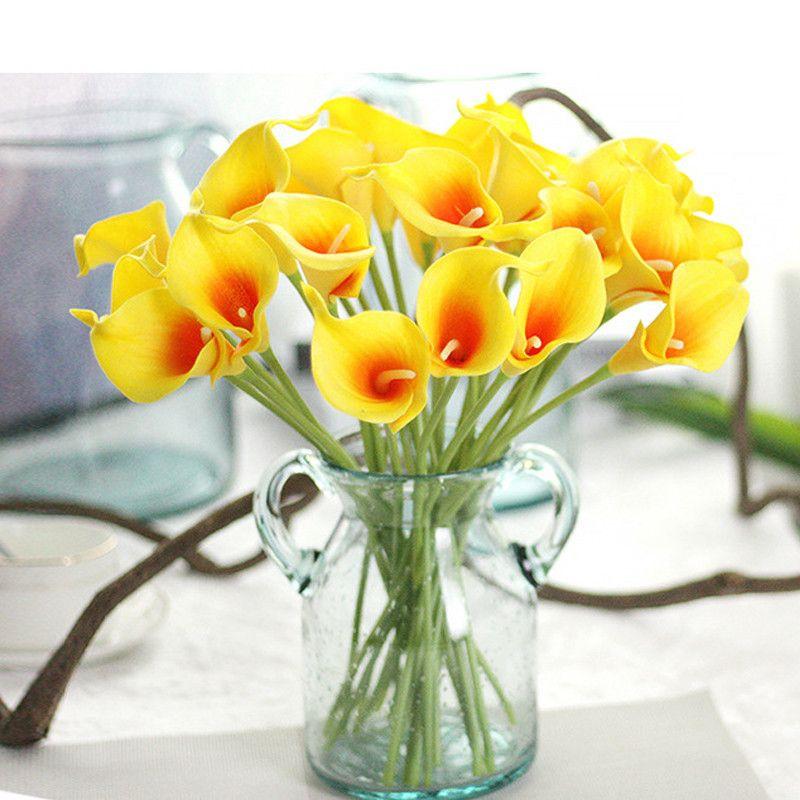32CM Lenth Mini Calla Lily Bride Bouquet Artificial Flower 10 Color for Home Wedding Decor
