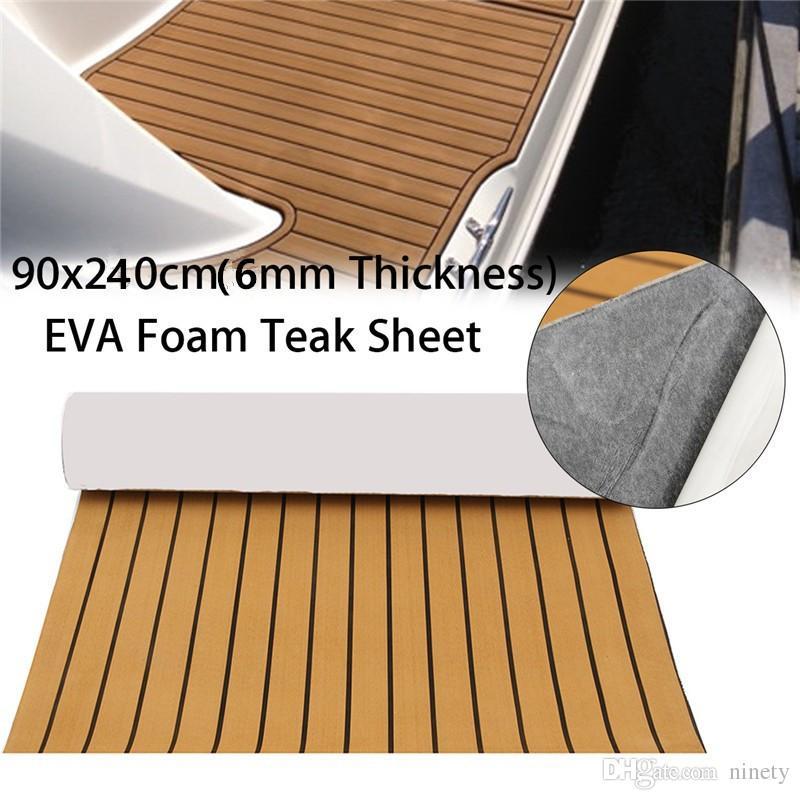 marine boat EVA Foam Boat Marine Flooring Mat Faux Teak Decking Yacht Car Sheet 35X 94''