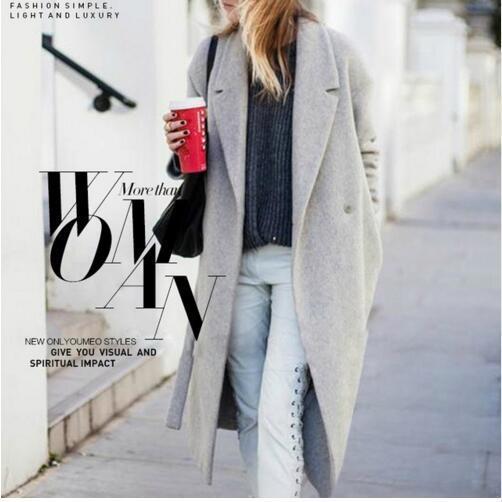Acheter Manteaux Gris En Laine Ressemblant Aux Femmes Manteau Long Dhiver 2018 Nouveau Design Hollywood Chaud X Long Surdimensionné Manteaux