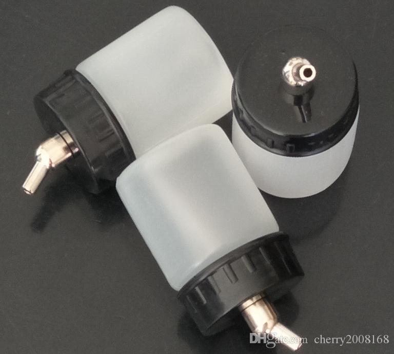 Botellas de Platic blanco del aerógrafo para al por mayor - 22CC nuevo 10pcs del aerógrafo del cepillo de aire de la botella blanca del tarro / tapa estándar de succión