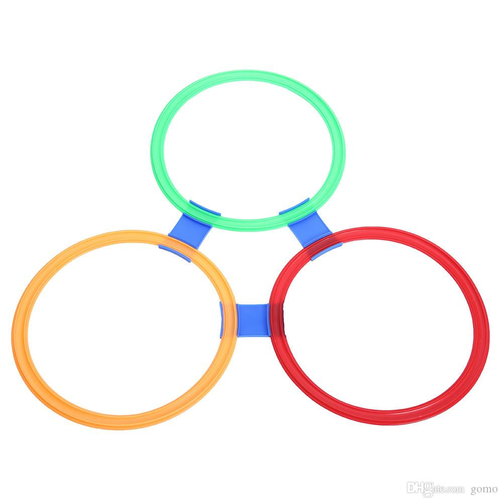 Outdoor Toys Sports Jumping Ring Preschool Teaching Aid Hopscotch Gymnastic Ring Children Movement Ability Training Game