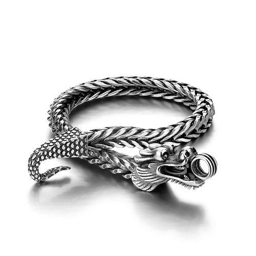Мужчины Shitai серебряный браслет корейский мужской модели стерлингового серебра 925 браслет грубый старинные тайский дракон ювелирные изделия