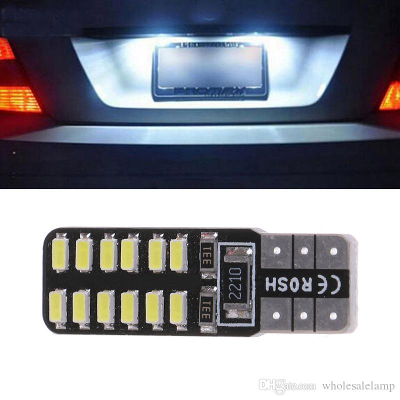 T10 194 W5W 3014 24SMD LED Canbus Error Free Car LED Wedge Width Side Light Reading Dome Map Side Marker Number Plate Lamp