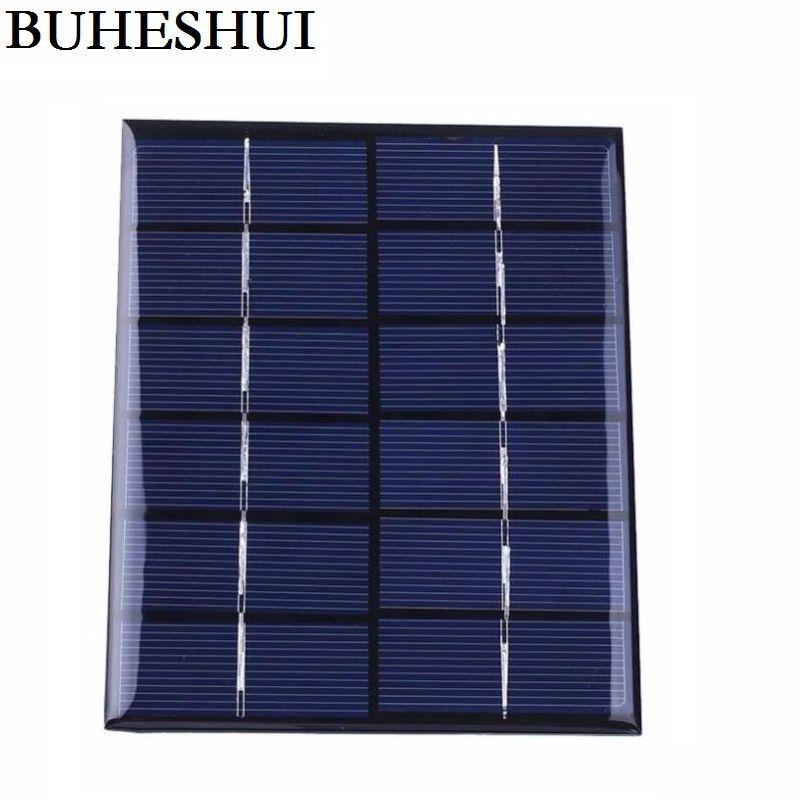 2W 6V الكريستالات الخلايا الشمسية لوحة DIY النظام الشمسي وحدة 5pcs / lot حرية الملاحة