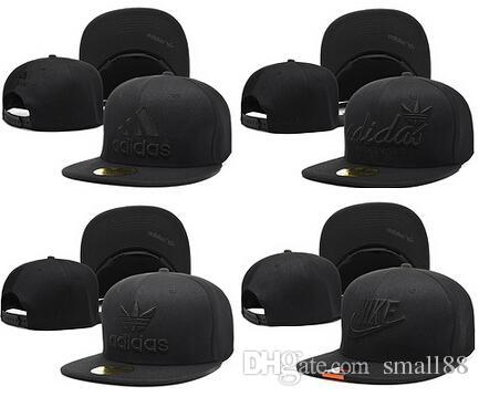 Nuevo estilo de la moda de alta calidad negro Snapback ball cap diseño de la marca Gorras de béisbol Casquette sombreros para hombres mujeres hueso deportes sombrero envío gratis