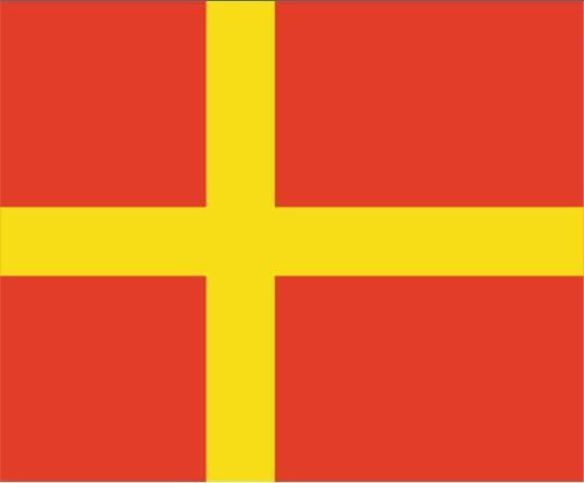 Flaga Szwecji Skånska Flaggan 3ft x 3ft Poliester Banner Latający 90 * 90 cm Niestandardowa flaga na zewnątrz