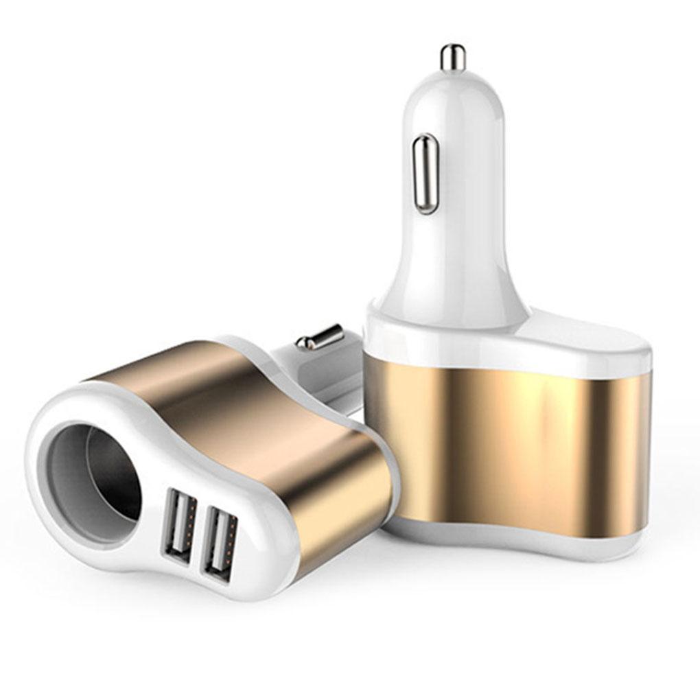 Universal DC12V 24V Dual USB Ports Car Vehicle Cigarette Lighter Adapter Power Socket Charger for Mobile Phone Mp3 Tablet PC