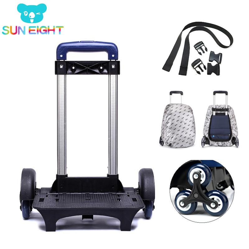 Kid Trolley For Backpack Wheeled Bag School Bag Luggage For Children 6 Wheels Expandable Rod High Function Trolly About 1.5kg