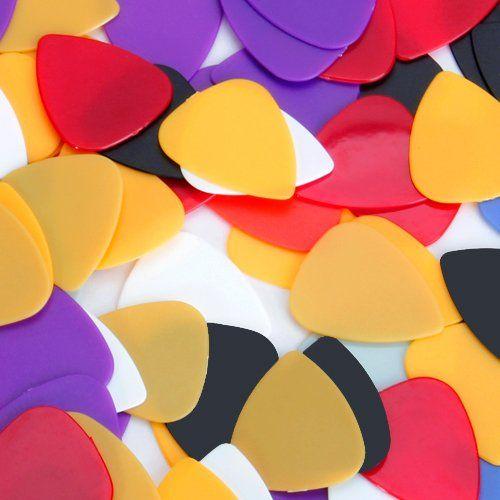 Ca. 100pcs Plastikgitarre wählt Plektren - sortierte gelegentliche Farbe