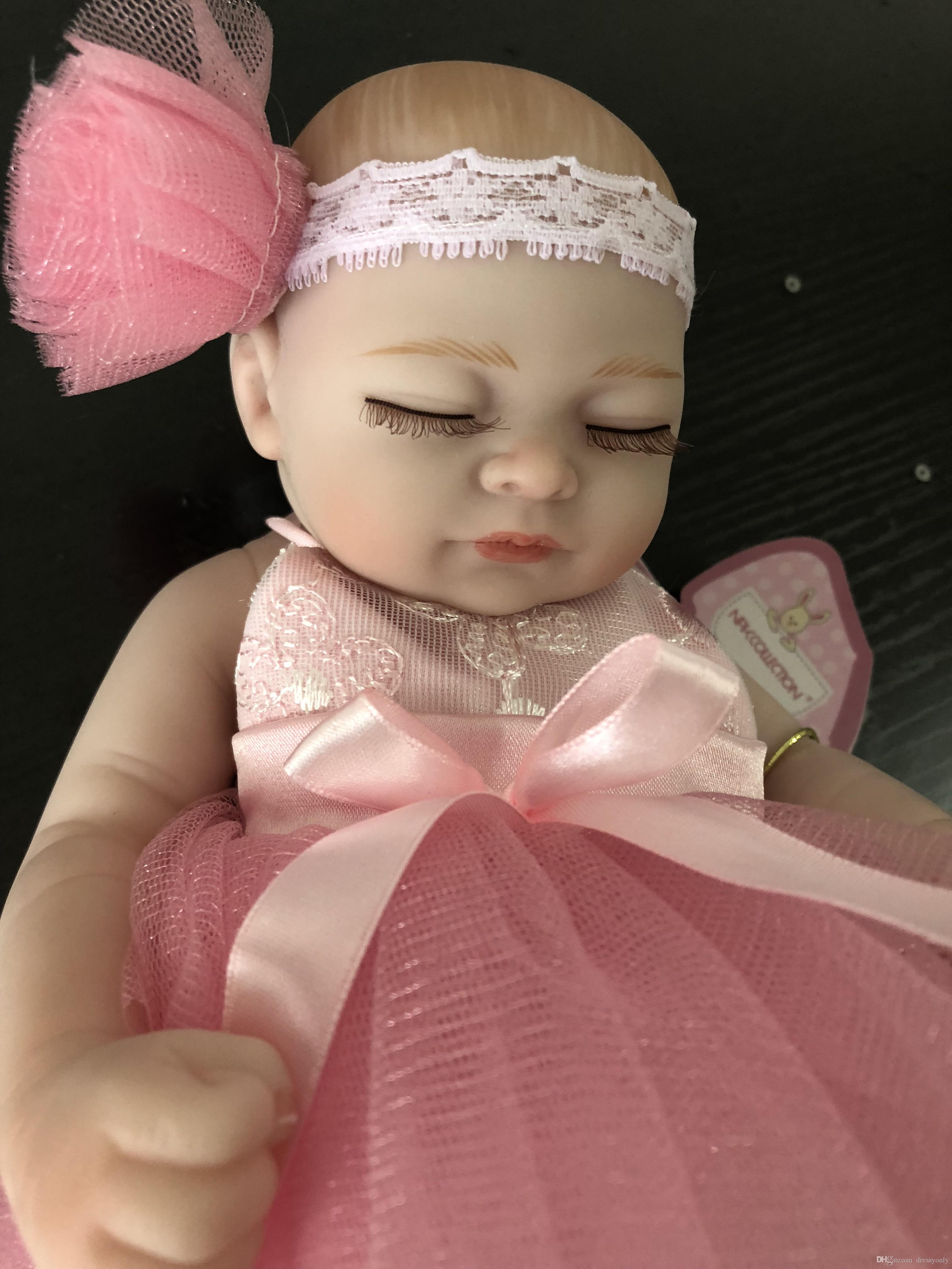 Pink Lifelike Doll Baby Bath Dolls Reborn Kids Gifts 25 Cm Childs Dolls Dolls From Dressyonly 35 18 Dhgate Com