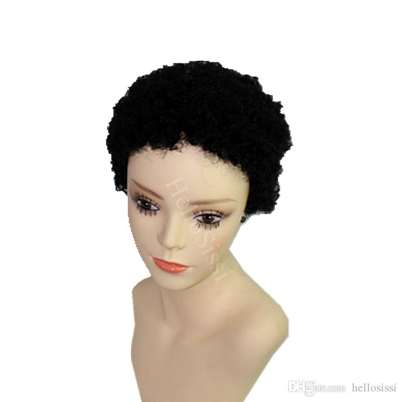 Rihanna African Americans Afro kinky curl Hairstyles Brazilian Short Hair Wigs Black Short Full Hair Lace Wig Glueless Wig For Black Women