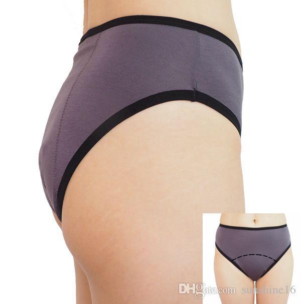 Plus Size Frauen Zeitraum Proof Hi-Cuts Unterwäsche Menstruation Dicht Höschen Inkontinenz Panty Sleepwear Briefs Dessous Bekleidung Kleidung
