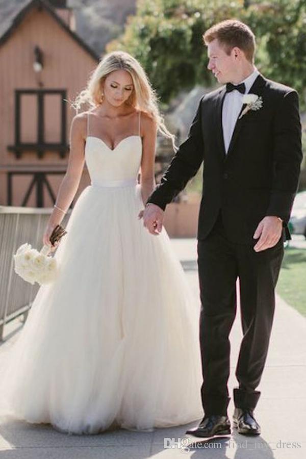 Simple Tulle Wedding Dresses