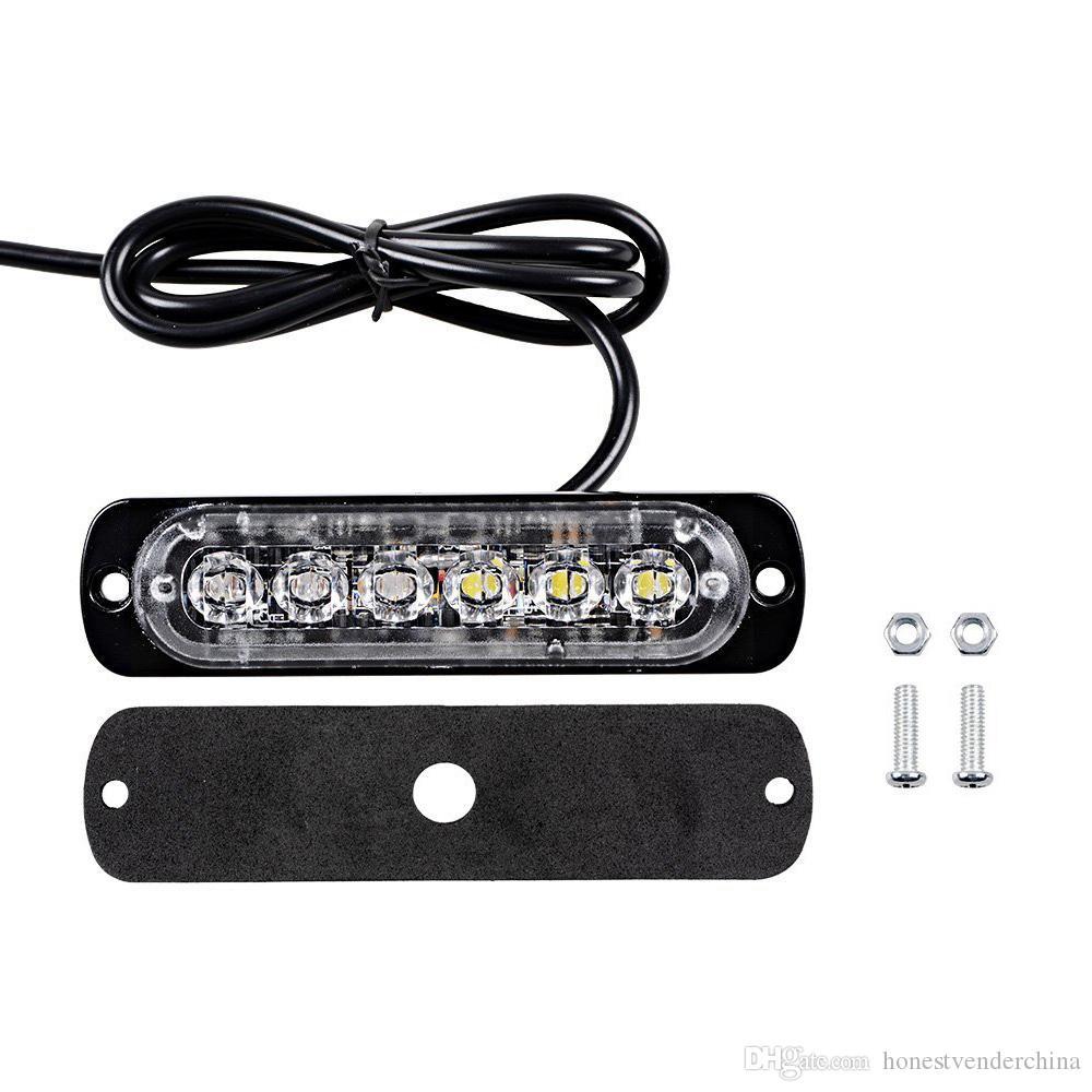 Araba Şekillendirme 6 LED Araç Mini Acil Light Bar 18 Yanıp Modu 12V / 24V Evrensel Vehivle veya Kamyon için Strobe ışık led