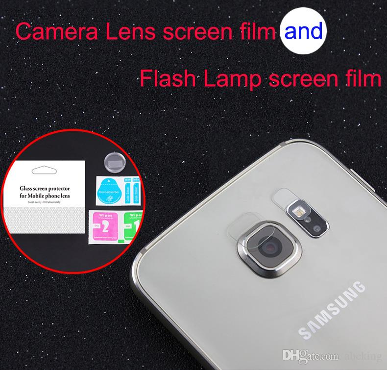 For Galaxy S8 S8Plus S7 S7edge S6 S6edge S6edge Plus Note7 Note5 Accessory Back Camera Lens+Flash Lamp Tempered Glass Full Screen Protector