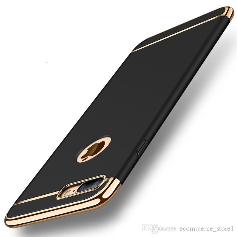 아이폰 X 8 7 6 하드 케이스 360도 보호 전화 가방 케이스 아이폰 6 7 8 플러스 케이스 PC 럭셔리 골드 브랜드 매트 커버