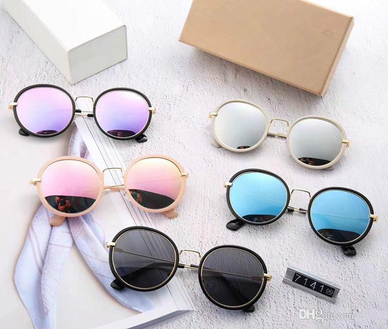 7141 Lunettes de soleil chaudes Femmes Marque Designer Hommes Lunettes de soleil Revêtement oculos Retro Mode gafas de sol marque Lunettes