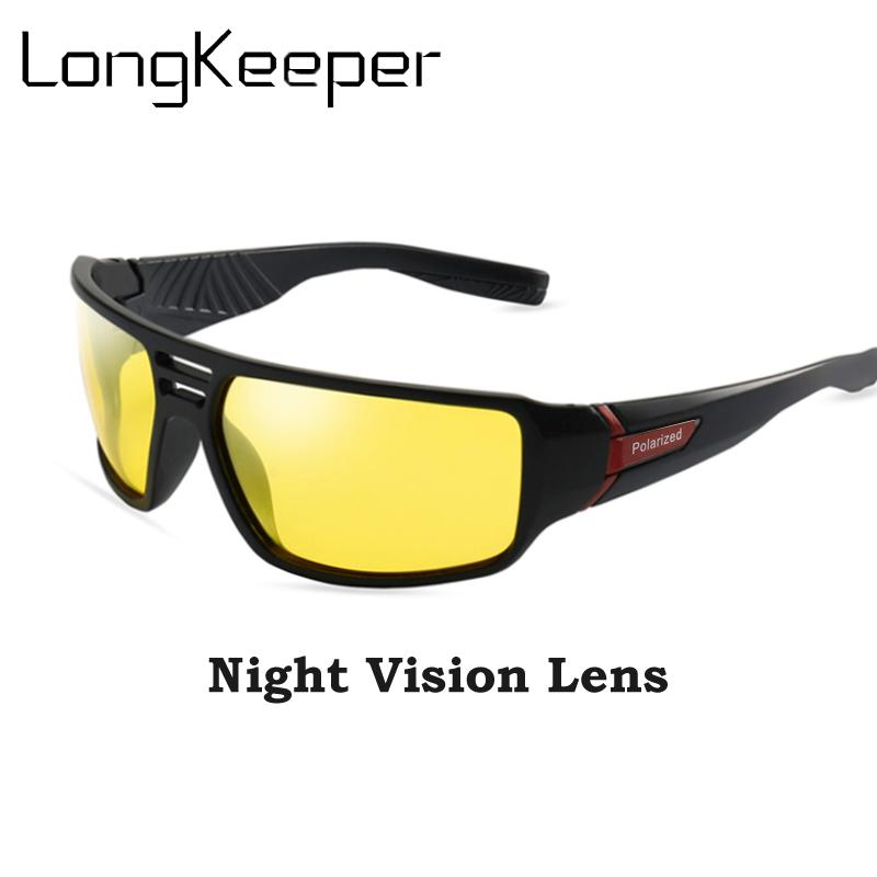 Мода тенденция HD поляризованных солнцезащитных очков Мужчины Женщины ночного видения автомобиля вождения очки Очки водитель желтый объектив солнцезащитные очки UV400