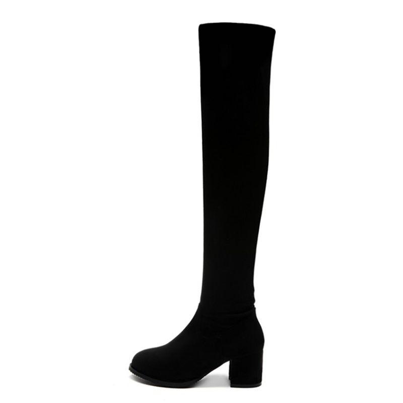 CularAcci Women Block Heel Ankle Boots Zip